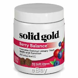 Solid Gold Dog & Cat Supplements for Urinary Tract Health Berry Balance. NEW