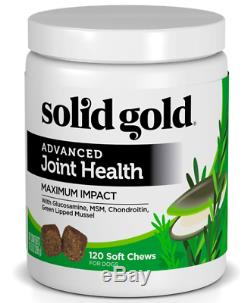 Solid Gold Glucosamine & Advanced Joint Health Chews for Dogs Natural Holisti