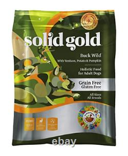 Solid Gold Grain Free Dry Dog Food Buck Wild with Real Venison, 24lb