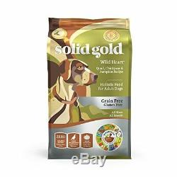 Solid Gold Grain Free Dry Dog Food Wild Heart with Real Quail, 24lb