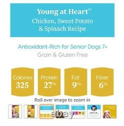 Solid Gold Holistic Food for Senior Dogs Chicken, Sweet Potato & Spinach, 4 lbs
