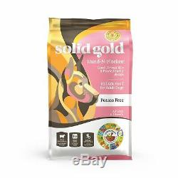 Solid Gold Hund-N-Flocken Natural Adult Dog Food With Real Lamb, Brown Rice And