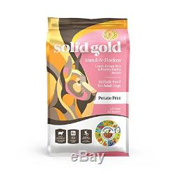 Solid Gold Hund-N-Flocken Natural Adult Dry Dog Food With Real Lamb, Brown Rice