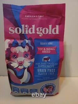 Solid Gold Mighty Mini Toy small dog Beef sw pot 4 lbs exp 3/22 free shipping
