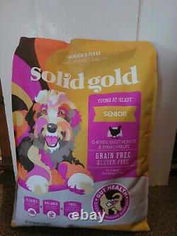 Solid Gold Senior Dog food 24lbs Chicken exp 5/22