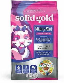 Solid Gold Small & Toy Breed Wet & Dry Dog Food with Real Protein, Beef