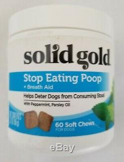 Solid Gold Stop Eating Poop Chews for DogsNatural Supplement for Dogs60ct