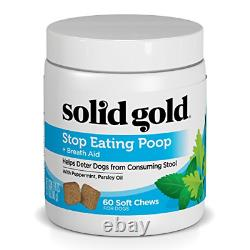 Solid Gold Stop Eating Poop for Dogs with Coprophagia Natural Chews with 60