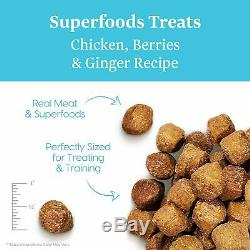 Solid Gold Superfoods Treats Grain Free Chewy Dog Treats with Real Meat Super