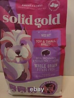 Solid Gold Wee Bit Toy small dog Bison Rice 4 lbs exp 3/22 free shipping