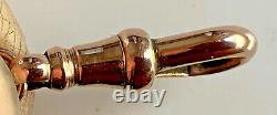 VINTAGE 9ct SOLID ROSE GOLD ALBERT WATCH CHAIN DOG CLIP CLASP 1.9g