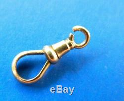Victorian 10k Rose Solid Gold Dog Clip Clasp For Pocket Watch