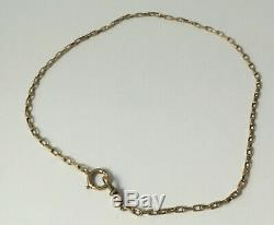 Victorian RJH & Co 9k Gold Watch Chain 13 4.6 Grams Dog Clip does NOT swivel