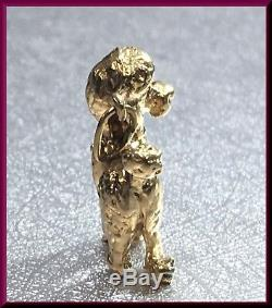 Vintage 14K Yellow Gold Poodle Dog Charm