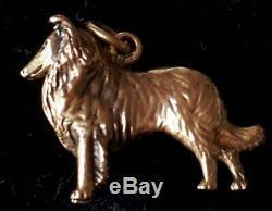 Vintage Beautiful 9ct Solid Gold Beautifully Engraved Dog Charm Pendant 4.1 gms
