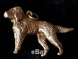 Vintage Beautiful 9ct Solid Gold Beautifully Engraved Dog Charm Pendant 5.2 gms