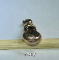 Vintage Edwardian 9ct Solid Gold Dog Clip Clasp for Albert Watch Chain Necklace