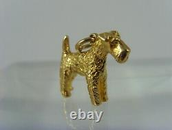 Vintage Kerry Blue Dog solid 9 ct gold Charm