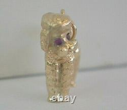 Vtg 14K SOLID YELLOW GOLD 3D PUDDLE DOG CHARM/ PENDANT